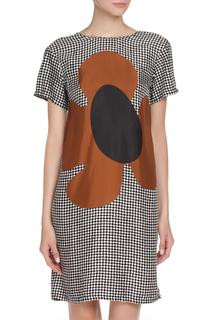 Платье в клеточку с цветочком Marni