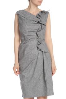 Платье с воланами по лифу Carolina Herrera