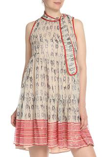 Платье с завязкой на шее Valentino Red