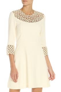 Платье полуприлегающего силуэта с кружевом Pinko
