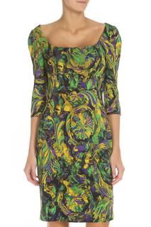 Платье полуприлегающее с вырезом-лодочка Versace Collection