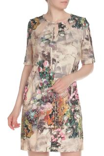 Укороченное платье с рисунком E.LEVY