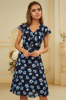 Шифоновое платье с V-образным вырезом Vittoria Vicci