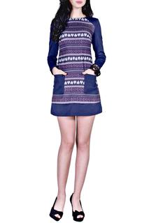 Короткое платье с накладными карманами FRANCESCA LUCINI