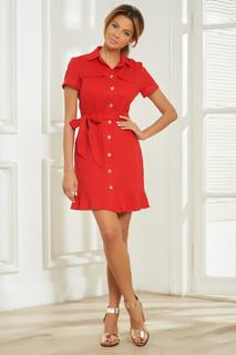Льняное платье на пуговицах Vittoria Vicci