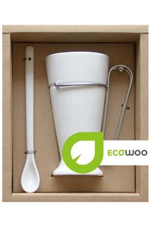 Набор для кофе: кружка, ложка ECOWOO