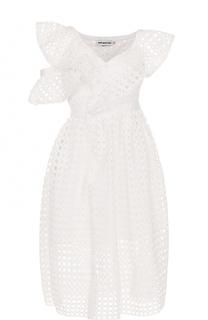 Кружевное платье-миди асимметричного кроя self-portrait