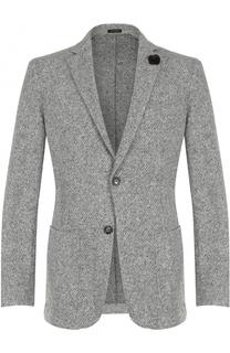 Однобортный пиджак со значком Windsor