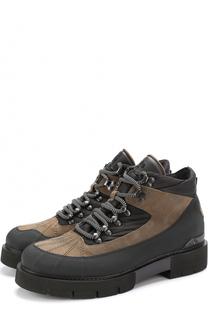 Комбинированные ботинки на шнуровке O.X.S.