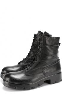 Кожаные ботинки с эффектом состаривания на шнуровке OXS rubber soul