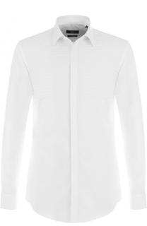 Хлопковая сорочка с контрастной отделкой BOSS