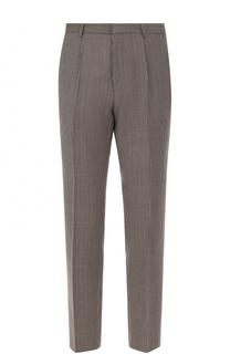 Шерстяные брюки прямого кроя BOSS
