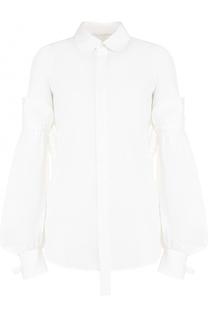 Хлопковая блуза с декорированными рукавами Dsquared2