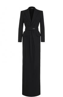 Платье-макси с V-образным вырезом и высоким разрезом Dsquared2