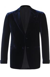 Бархатный однобортный пиджак Tom Ford