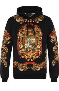 Хлопковая толстовка с капюшоном и принтом Dolce & Gabbana