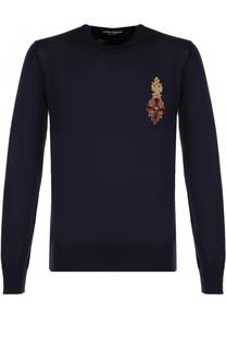 Кашемировый джемпер с круглым вырезом Dolce & Gabbana