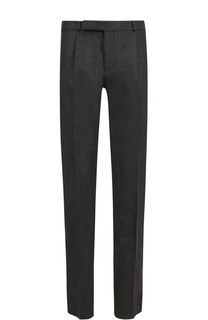 Шерстяные брюки прямого кроя Saint Laurent