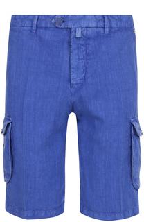 Льняные шорты с накладными карманами Kiton