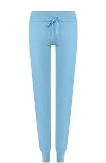 Кашемировые брюки прямого кроя с эластичным поясом и манжетами Cruciani