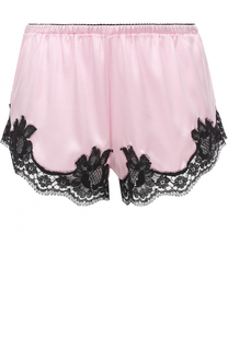 Шелковые шорты с кружевной отделкой Dolce & Gabbana