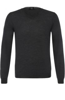 Пуловер из шерсти тонкой вязки BOSS