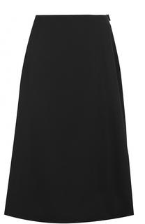 Шерстяная юбка-миди с защипами Yohji Yamamoto