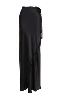 Шелковая юбка-макси с эластичным поясом Ann Demeulemeester