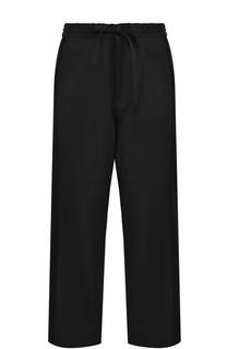 Шерстяные брюки прямого кроя с эластичным поясом Yohji Yamamoto