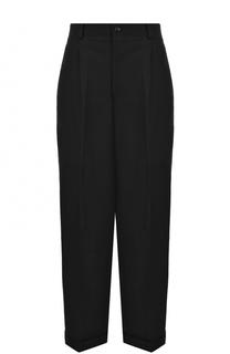 Шерстяные брюки с защипами и стрелками Yohji Yamamoto