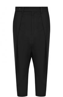 Укороченные брюки с защипами и карманами Yohji Yamamoto