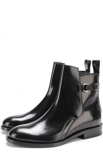 Кожаные ботинки с декоративным ремешком Acne Studios