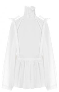 Хлопковая блуза свободного кроя с воротником-стойкой Ann Demeulemeester