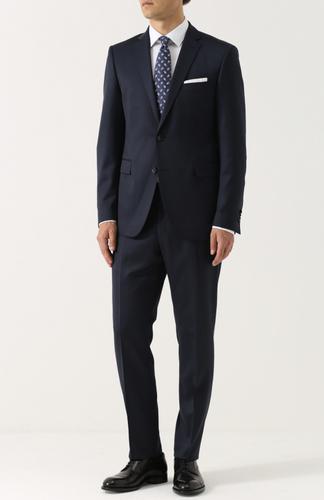 Шерстяной костюм с пиджаком на двух пуговицах Windsor