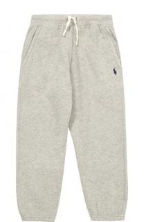 Спортивные брюки из хлопка и полиэстера на кулиске Polo Ralph Lauren