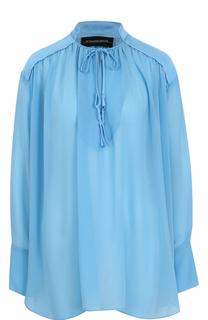 Блуза свободного кроя с воротником-стойкой By Malene Birger