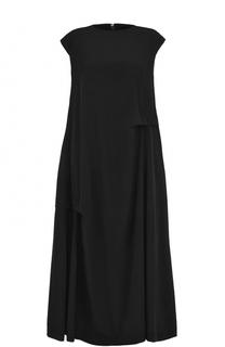 Платье-миди свободного кроя с драпировкой Yohji Yamamoto