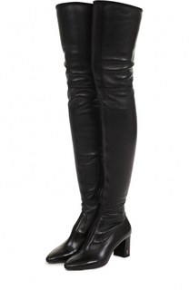 Кожаные ботфорты Loulou на устойчивом каблуке Saint Laurent