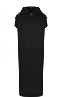 Платье свободного кроя с удлиненной спинкой Yohji Yamamoto