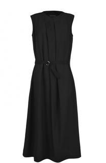 Шерстяное приталенное платье-миди Yohji Yamamoto