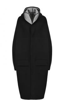 Хлопковое пальто свободного кроя с капюшоном Yohji Yamamoto