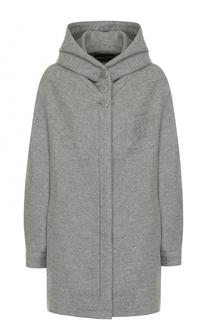 Кашемировое пальто на молнии с капюшоном Giorgio Armani