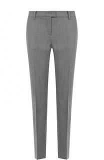 Шерстяные брюки прямого кроя со стрелками Windsor