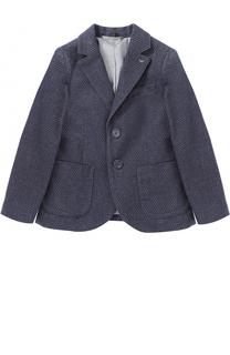 Однобортный пиджак из хлопка Armani Junior