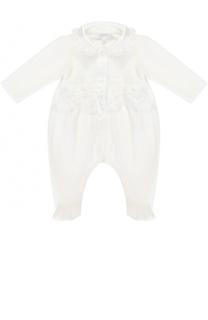 Хлопковая пижама с кружевной отделкой Aletta