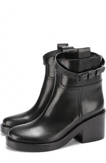Кожаные ботинки с декоративным ремешком Ann Demeulemeester