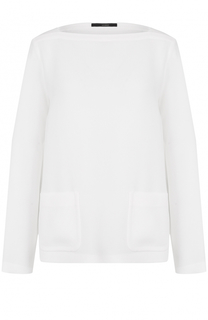 Блуза с вырезом-лодочка с накладными карманами Windsor