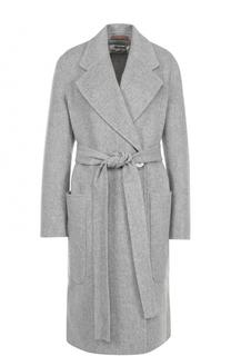 Шерстяное пальто с запахом и поясом Acne Studios