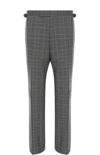 Шерстяные брюки в контрастную клетку Tom Ford