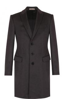 Кашемировое однобортное пальто Armani Collezioni
